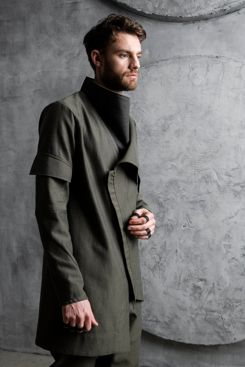 Asymmetric Men's Cardigan