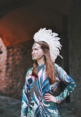 White feather mohawk