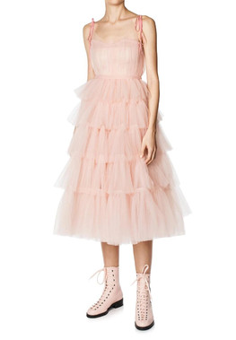 TIERED TULLE DRESS